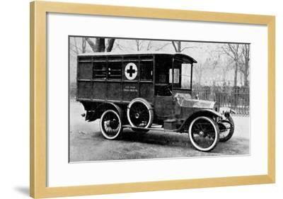 A Motor Ambulance Supplied by Carter's, New Cavendish Street--Framed Giclee Print