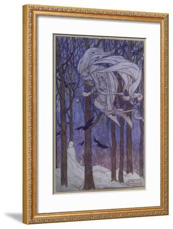 A Snowman at Twilight--Framed Giclee Print