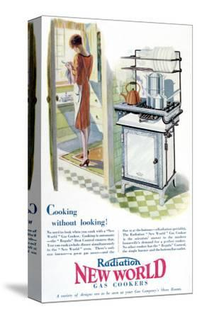 Advertisement for a Gas Cooker Produced by the 'New World' Company, 1928--Stretched Canvas Print