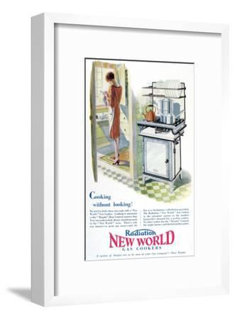 Advertisement for a Gas Cooker Produced by the 'New World' Company, 1928--Framed Giclee Print