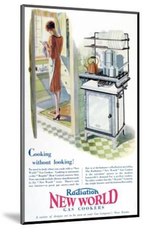 Advertisement for a Gas Cooker Produced by the 'New World' Company, 1928--Mounted Giclee Print