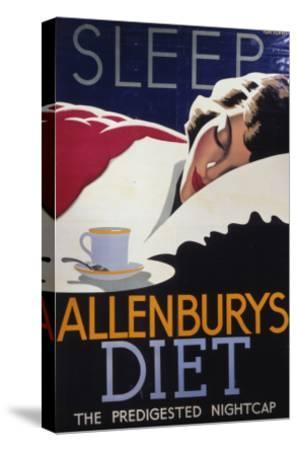Allenburys Diet Advert, the Predigested Nightcap for a Good Night's Sleep--Stretched Canvas Print