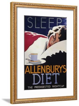 Allenburys Diet Advert, the Predigested Nightcap for a Good Night's Sleep--Framed Giclee Print