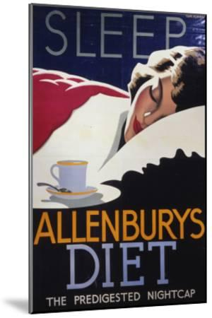 Allenburys Diet Advert, the Predigested Nightcap for a Good Night's Sleep--Mounted Giclee Print