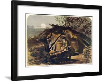 An Illicit Whisky Still in the Scottish Highlands--Framed Giclee Print