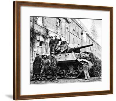 American Tank Destroyer at Stavelot; Second World War--Framed Giclee Print