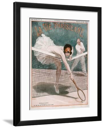 An Over-Enthusiastic Partner--Framed Giclee Print