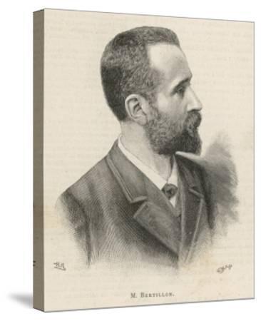 Alphonse Bertillon French Criminologist a Portrait--Stretched Canvas Print