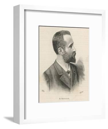 Alphonse Bertillon French Criminologist a Portrait--Framed Giclee Print