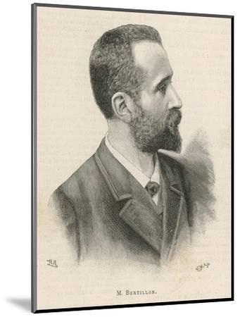 Alphonse Bertillon French Criminologist a Portrait--Mounted Giclee Print