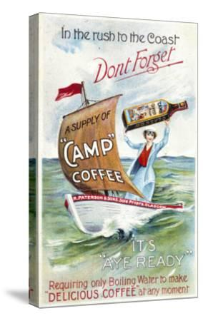 Camp Coffee - Delicious Coffee at Any Moment--Stretched Canvas Print