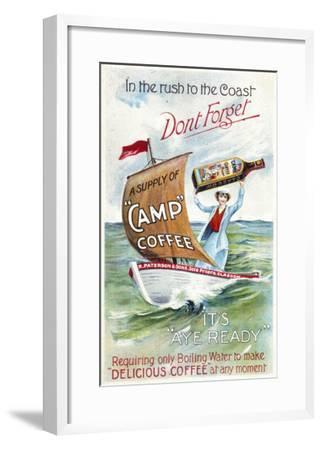 Camp Coffee - Delicious Coffee at Any Moment--Framed Giclee Print