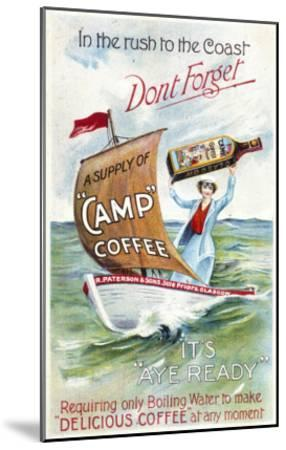 Camp Coffee - Delicious Coffee at Any Moment--Mounted Giclee Print