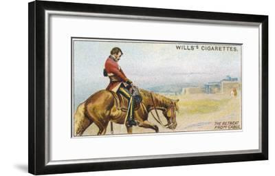 British Retreat from Kabul - Dr. Brydon Is the Sole Survivor--Framed Giclee Print