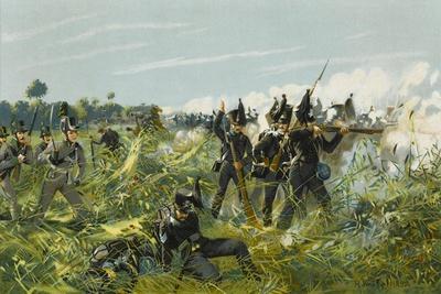 Battle of Quatre Bras--Stretched Canvas Print