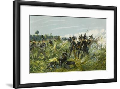 Battle of Quatre Bras--Framed Giclee Print