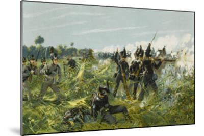 Battle of Quatre Bras--Mounted Giclee Print