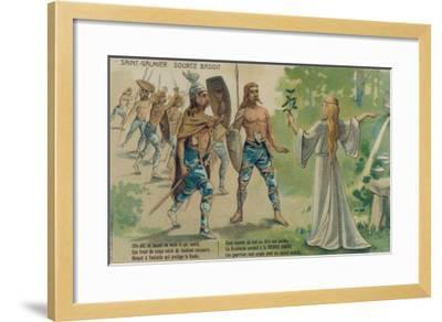 Badoit Discovered--Framed Giclee Print