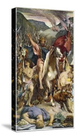 Attila and Huns--Stretched Canvas Print