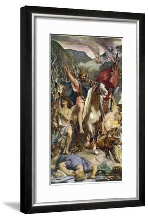 Attila and Huns--Framed Giclee Print
