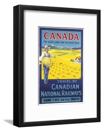 Canada, the Right Land for the Right Man Poster--Framed Giclee Print
