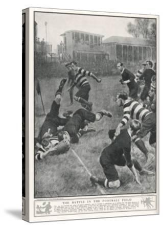 At Richmond, the Army Service Corps Beat the New Zealand All Blacks by 21-3--Stretched Canvas Print
