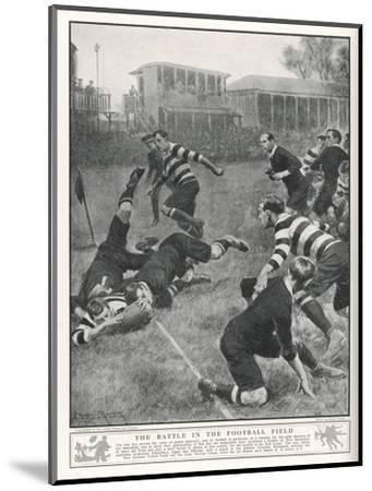 At Richmond, the Army Service Corps Beat the New Zealand All Blacks by 21-3--Mounted Giclee Print