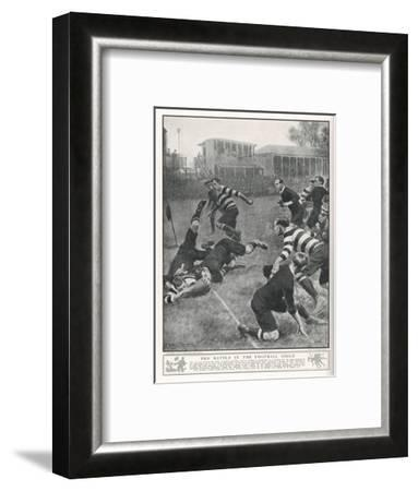 At Richmond, the Army Service Corps Beat the New Zealand All Blacks by 21-3--Framed Giclee Print