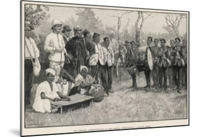 British Administrator Interviews a Native Chief in the Gambia--Mounted Giclee Print