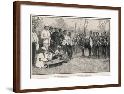 British Administrator Interviews a Native Chief in the Gambia--Framed Giclee Print