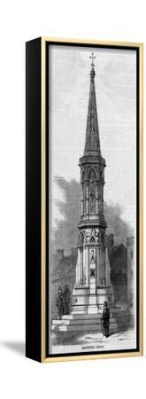 Banbury Cross--Framed Stretched Canvas Print