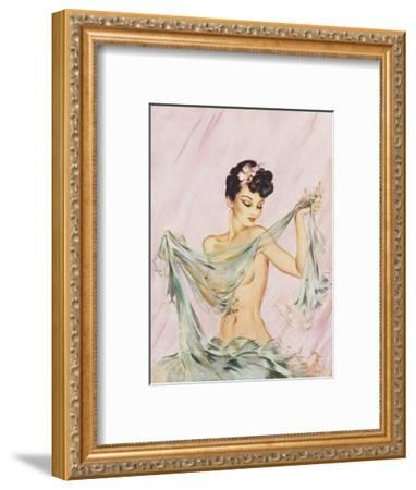 Black and Blue by David Wright-David Wright-Framed Giclee Print