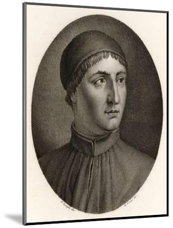 Angelo Poliziano Italian Scholar and Writer--Mounted Giclee Print