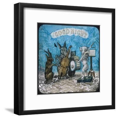 Animal Band Good Night--Framed Giclee Print