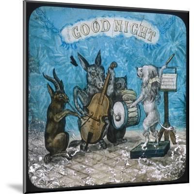 Animal Band Good Night--Mounted Giclee Print