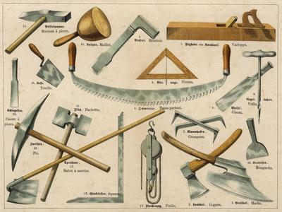 Builder's Tools 1875--Stretched Canvas Print