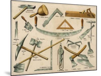 Builder's Tools 1875--Mounted Giclee Print