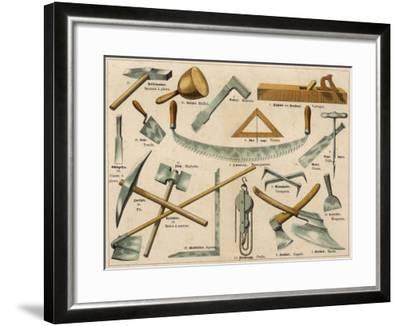 Builder's Tools 1875--Framed Giclee Print