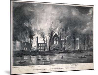 Burning of the Houses of Parliament--Mounted Giclee Print