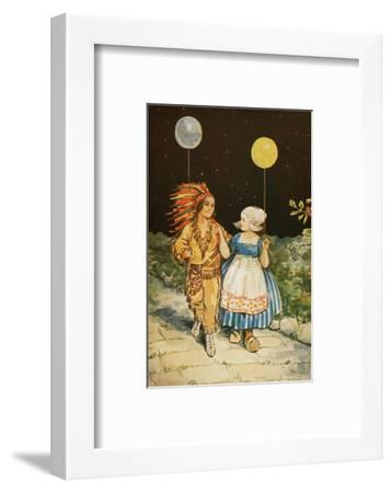 Children's Party American Indian and Dutch Girl--Framed Giclee Print