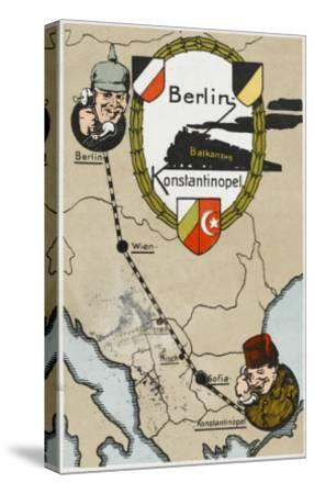 Communication Between Berlin and Istanbul--Stretched Canvas Print
