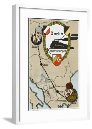 Communication Between Berlin and Istanbul--Framed Giclee Print