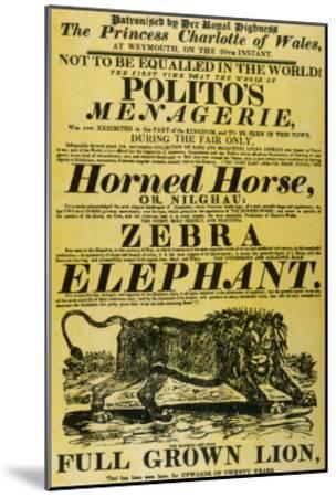 Circus Poster--Mounted Giclee Print