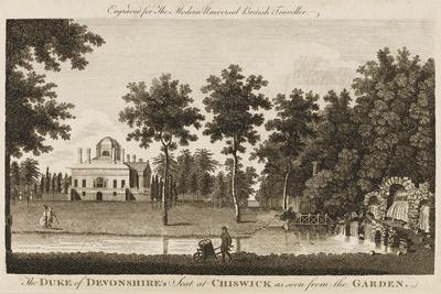 Chiswick House, the Seat of the Duke of Devonshire - View in the Gardens--Stretched Canvas Print