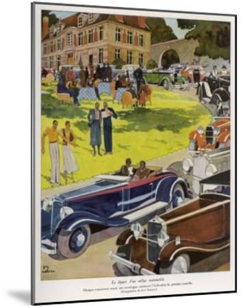 Concours D'Elegance--Mounted Giclee Print