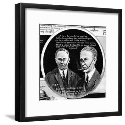 Curiosities from the Patent Office; Support for Cigarettes--Framed Giclee Print