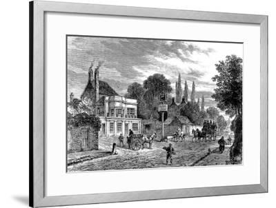 Engraving Showing the 'Bull and Last' Public House in Kentish Town, During the 19th Century--Framed Giclee Print