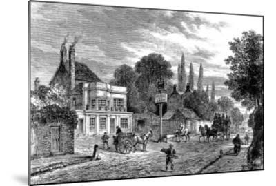 Engraving Showing the 'Bull and Last' Public House in Kentish Town, During the 19th Century--Mounted Giclee Print