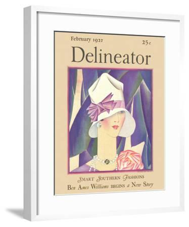 Delineator Front Cover, February 1927--Framed Giclee Print