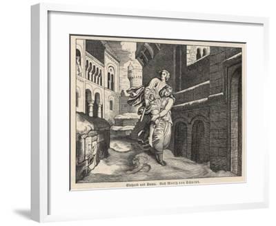 Einhard and Emma--Framed Giclee Print